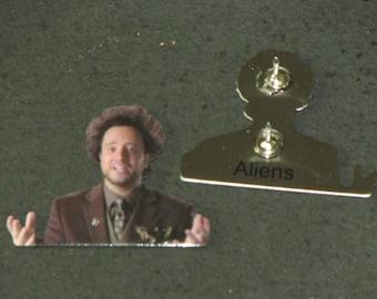 Aliens Giorgio Scifi Sci Fi Alien UFO Lapel Hat Pin