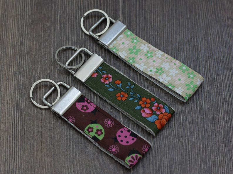 Key Fob Keychain for Women Choice of Color Sequin Keychain Key Fob Wristlet