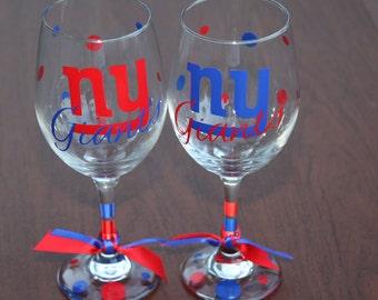 New York Giants Glassware, Sports Glassware, Football,Giants Gifts, Go Giants!