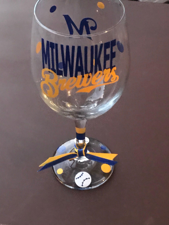 426e7a777b09 Milwaukee Brewers Baseball Sports Team Glassware Brewers
