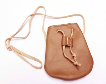 Treasure pouch - tobacco brown - baby toddler purse coin purse tote