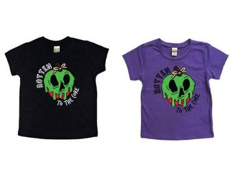 Rotten to the Core Halloween Tee - Youth - Halloween  Kids T-shirt - Funny Kids shirt, Kids Graphic Shirt, Cute Kids Shirt, Kids Tee