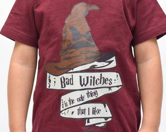 Bad Witches Halloween Tee - Youth - Halloween  Kids T-shirt - Funny Kids shirt, Kids Graphic Shirt, Cute Kids Shirt, Kids Tee