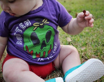 Rotten to the Core Shirt - Infant Toddler -  Halloween Kids T-shirt - Funny Kids shirt,  Toddler Shirt, Kids Shirt - evil queen shirt