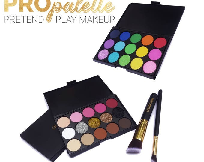 Pretend Play Makeup Set PRO Palette - No mess! - Fake makeup -pretend play - kid makeup - pretend - cosmetics - play makeup - rainbow