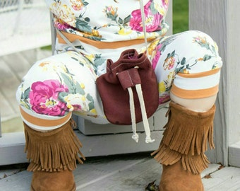 Garnet Red Treasure Pouch - toddler purse - boho purse - coin pouch - purse - kid purse - leather pouch
