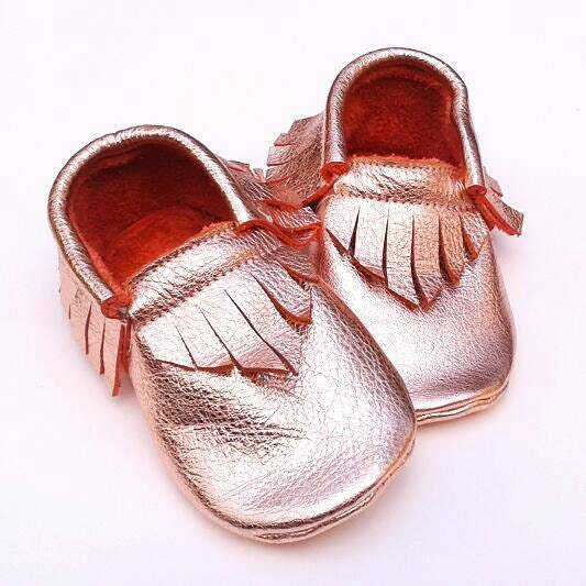 fe01404b687 Baby Girl Shoes - Rose gold moccs - baby moccs - toddler moccs - soft sole baby  shoes - leather moccs - moccasins - kids shoes - baby gift.  40.00.  Shipping ...