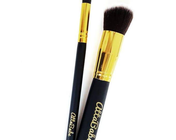 Kid's Pretend Play Makeup - 2 Brush Set  - No color, No mess! - fake makeup - kids cosmetics - pretend - kids makeup - toy