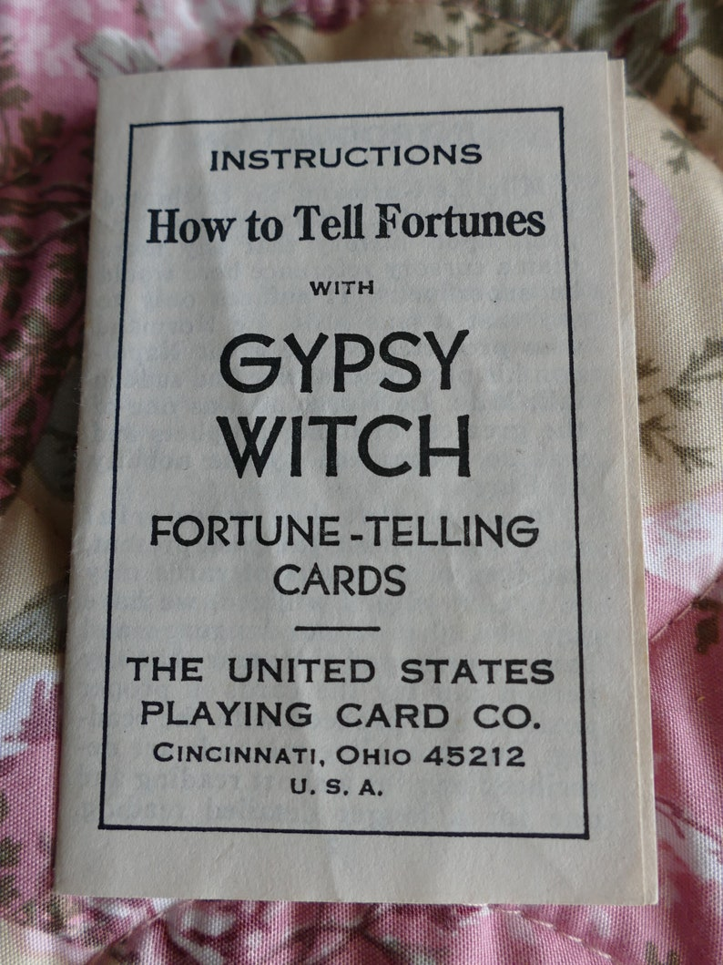 Vintage Gypsy Witch Fortune Telling Cards Madame Le Normand Orange 2 part box