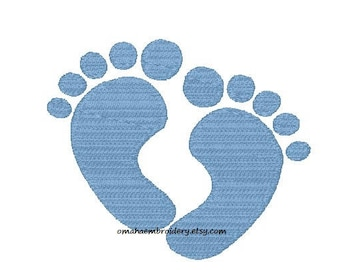 Baby Feet Machine Embroidery Design - 5 Sizes - Instant Download Design