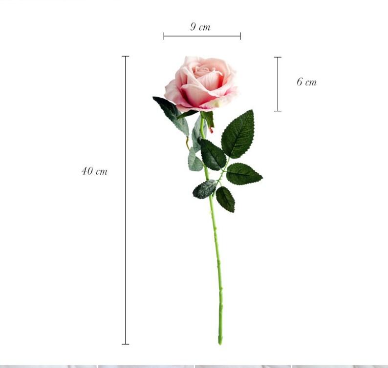10pcs Dusty Pink Velvet Open Rose Roses Artificial Flowers Silk Flower Silk Flowers for Wedding Bridal Bouquet Floral Arrangement Home Decor