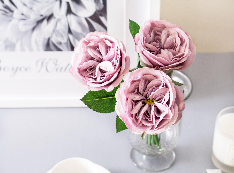 1pc Purple Garden Rose Roses Silk Flower Silk Flowers For Diy Etsy