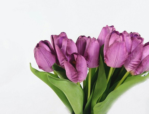 Astonishing 7Pcs Purple Tulips Faux Tulip Real Touch Artificial Flowers Silk Flower Silk Flowers Tulip Bouquet Flower Arrangement Centerpiece Decor Download Free Architecture Designs Intelgarnamadebymaigaardcom