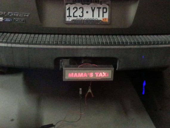Trailer Hitch Cover Lighted Led Illuminated Custom Engraved Acrylic Mirror Silver