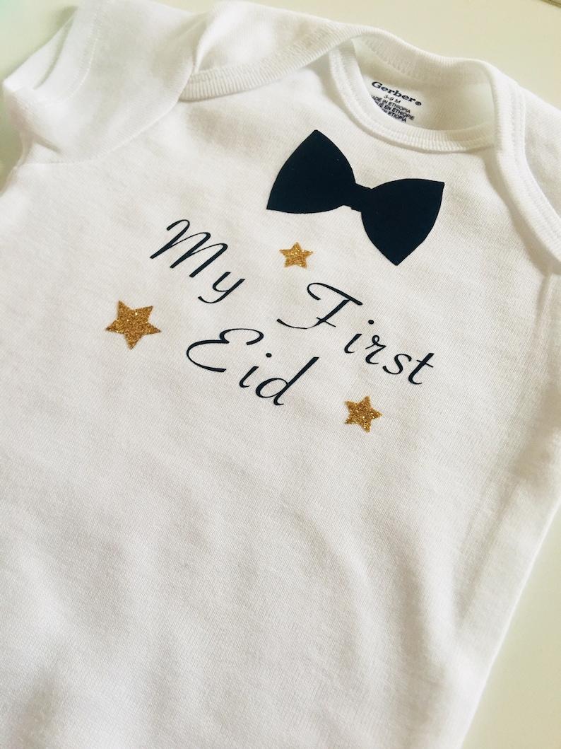 3871f6abb My First Eid baby onesie My First Eid Bow Tie T-shirt My | Etsy