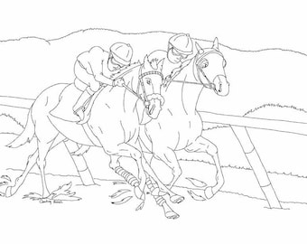 Thoroughbred Race Horses Pony Equestrian