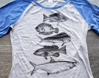 Fish Girls that Fish Fishing Shirt Women/'s Fishing Shirt Lake Like Fishing Life Fishing Hair Don/'t Care Shirt Lake Junkie River Like