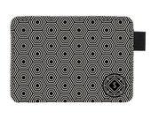 Subtle Geometric Monogram Personalised Card Holder Wallet - Vegan Leather