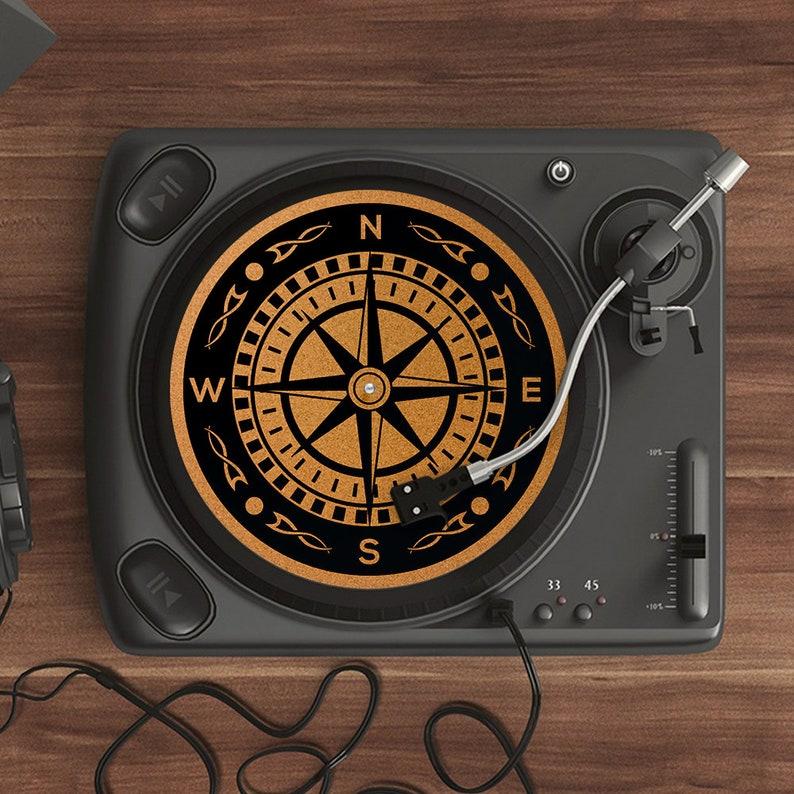DJ Slip mat Compass Cork turntable mat Turntable Slipmat