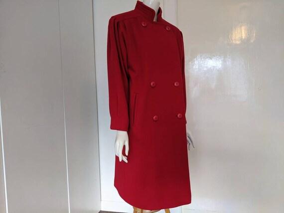 Vintage 80s Coat/Wool Coat/Vintage Coat/Red Coat/W