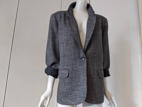 Vintage 60s 70s Barclay Square Jacket/Wool jacket/