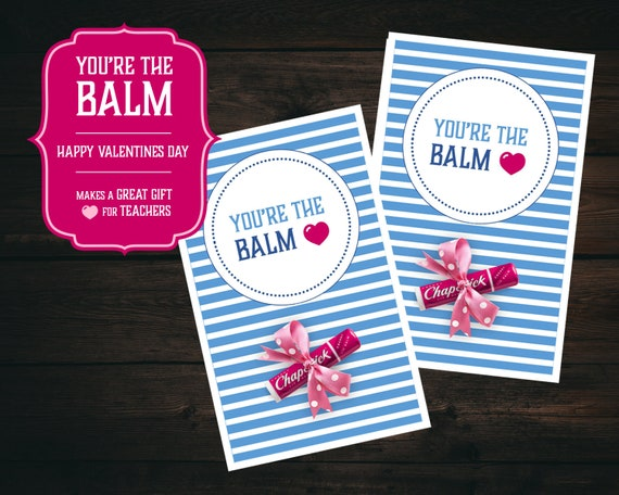 image regarding You're the Balm Printable referred to as Youre the Balm Valentines Working day Printable Reward Card