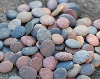 Round Sea Stones Bulk 120 pcs SMALL