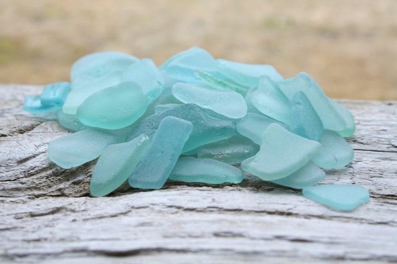 Bulk Sea Glass For Sale Light Blue Sea Glass Bulk  Beach Glass image 0