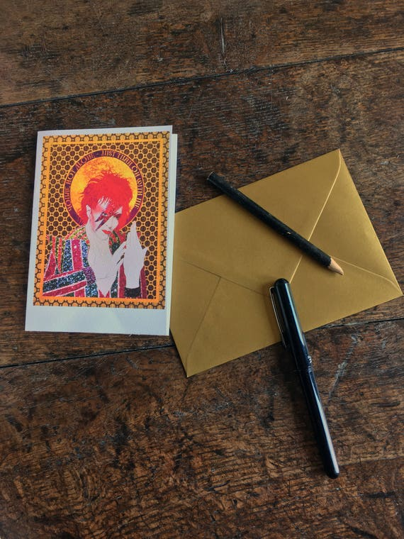 Celebrations Occasions David Bowie Greeting Card Handmade Original Art Blank Icon Birthday Card Music Home Furniture Diy Tohoku Morinagamilk Co Jp