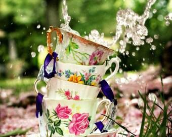 Cherry Blossom Sakura Photography. Nature, Flower & Garden Photography.  Spring Photography. Tea, Teacup Photography. 8x12 Print