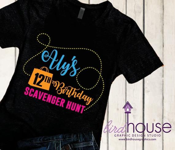 af5dca12 Scavenger Hunt Birthday Shirt | Etsy