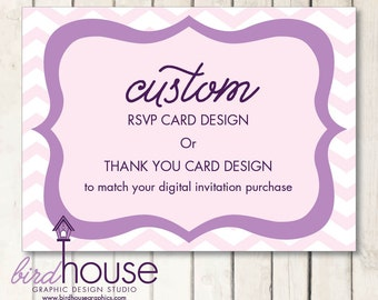 Matching RSVP Card / Thank You Card Digital