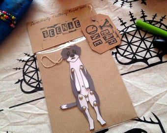 Portrait Personalized Paper doll dog/cat-paper doll pet-paper doll animal-custom made portrait