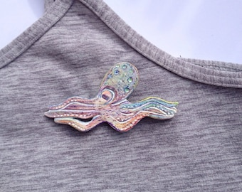 Octopus brooch pin broche octopus pieuvre poulpe