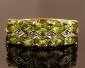 Vintage Peridot Diamond G...