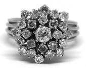 Vintage Diamond Cluster R...