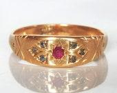 Antique Gold Diamond Ruby...
