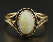 Antique Opal Gold Ring Si...