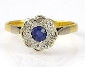 Vintage Sapphire Diamond ...