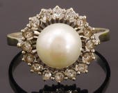 18k White Gold Pearl and ...
