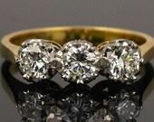 Vintage 3 Stone Diamond R...