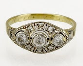 Vintage Art Deco Diamond ...