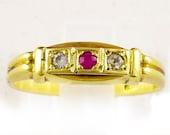 14k Yellow Gold Ring Enga...