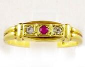 14k Yellow Gold Ruby Ring...