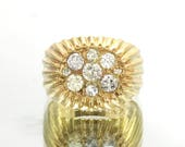 Diamond Cluster Gold Ring...