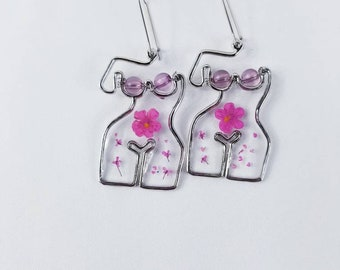 Fertility Jewelry Ovary Dangle Earrings Female Reproduction Organ Charms