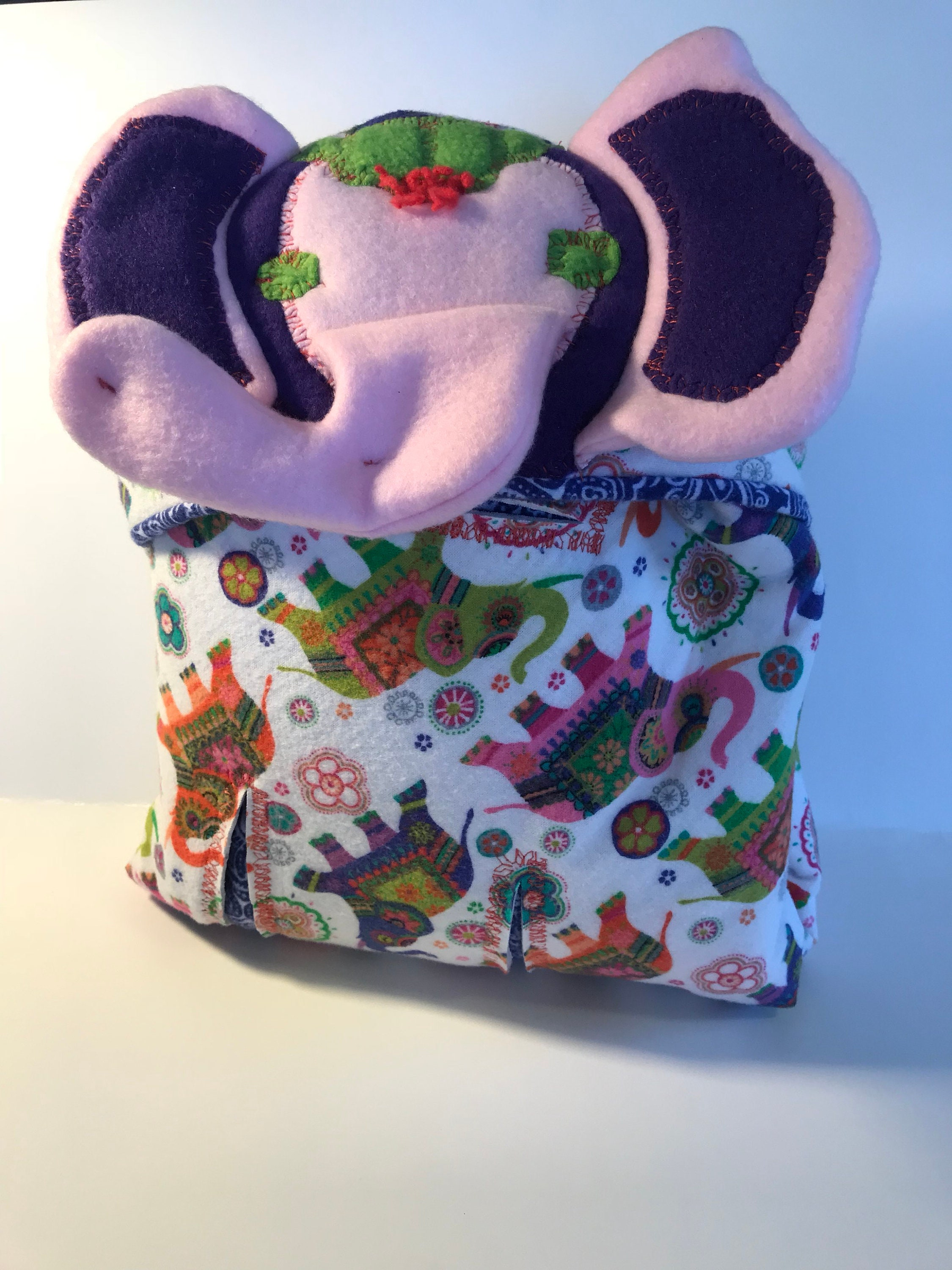 Pink Circus Elephant Car Seat Swaddle