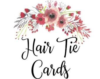 Hair Tie Cards, Cards Only, Custom Hair Tie Favors, Bachelorette Hair Tie Favors, Baby Shower Favors, Wedding Favors, Gender Reveal Favors