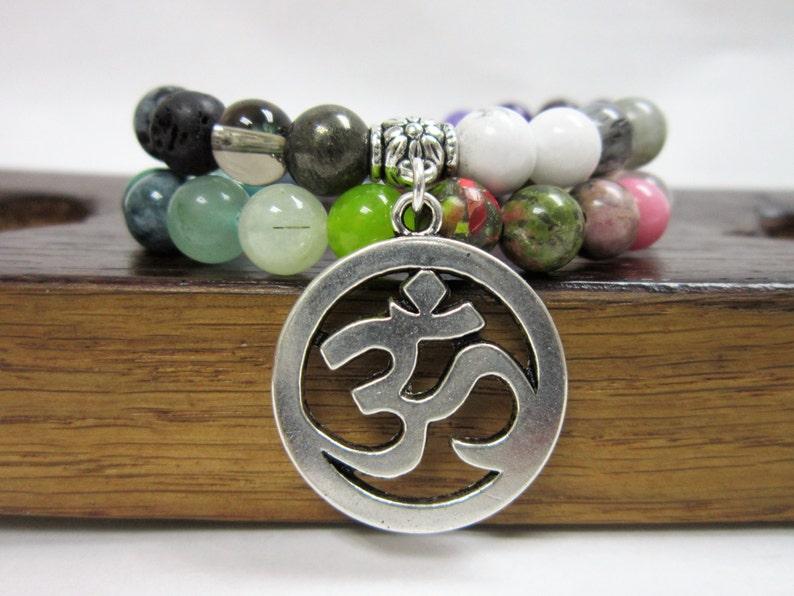 Multi-Gemstone Wrap Bracelet 45 Bead Agesta Healing Code Mala Wrap  MulitGemstone Charm Bracelet Gemstone Chakra Mala Healing Yoga Meditation