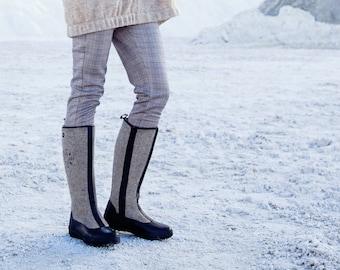 Felt Boots, Valenki, Winter Shoes, Grey Wool Shoes, Women Winter Boots, Handmade Boots, Gray Wool Boots, Women Snow Felt Shoes, Snow Boots